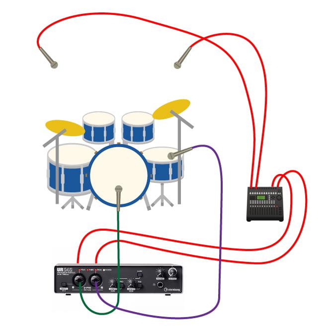 ur242_ドラムレコーディング3